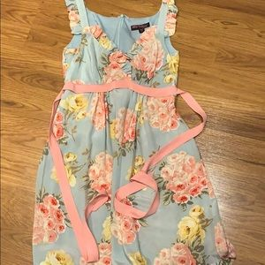 Betsey Johnson bouquet print baby doll dress